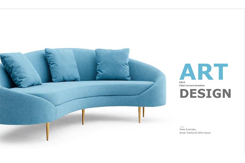 GOJO trend salon waiting room furniture sofa for lounge area-2