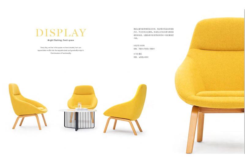 Modern Lounge Area Sofa Set with  High Density Sponge