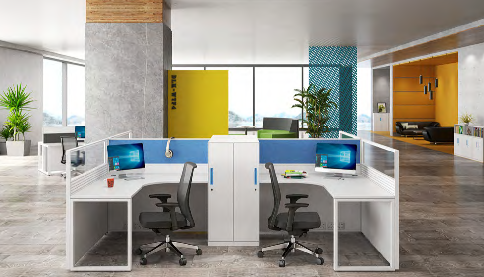 news-Multi-color Partition Workstation Makes Your Office Lively-GOJO-img
