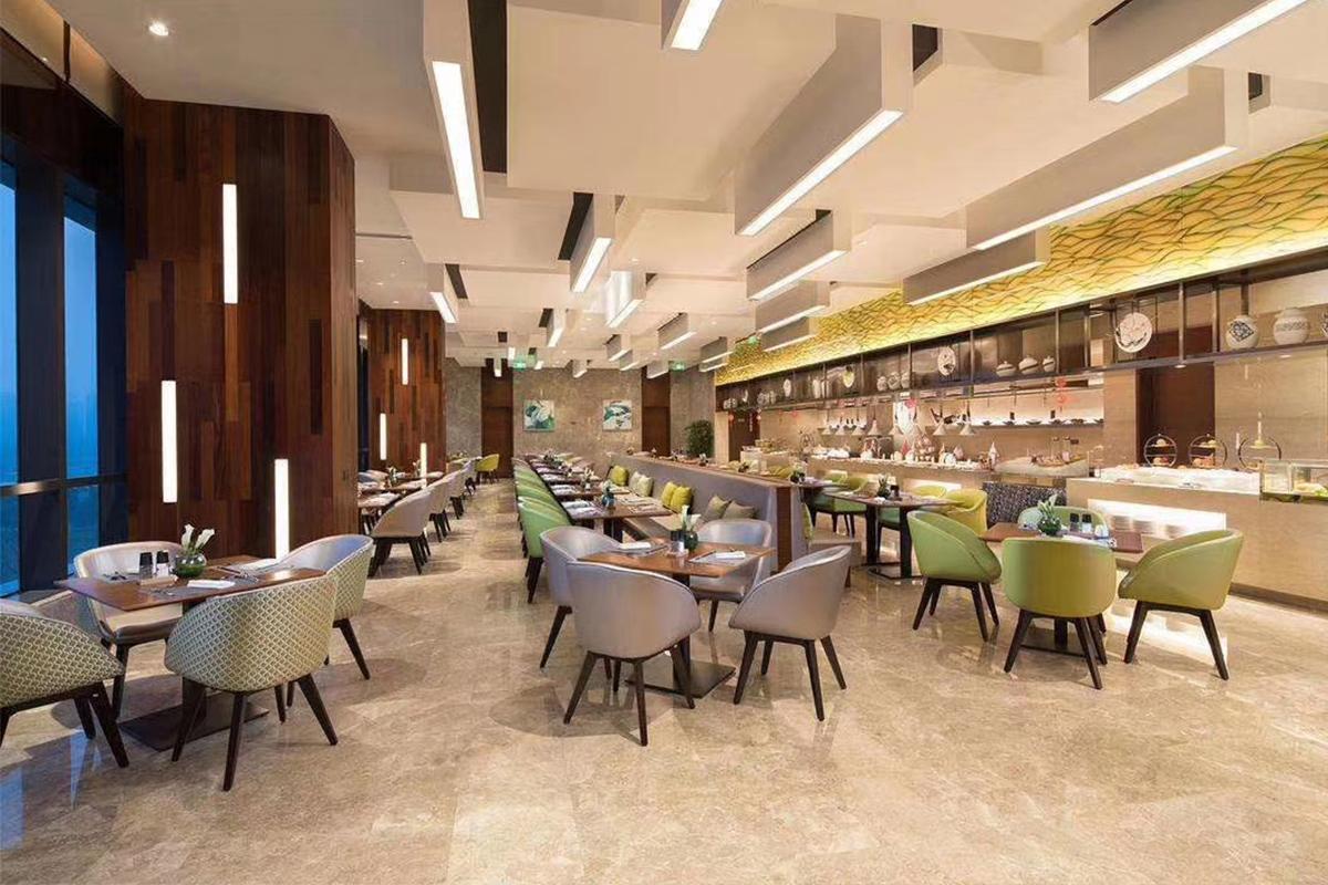 Gojo furniure cafeterior01 hotel bed furniture company for reception area-1