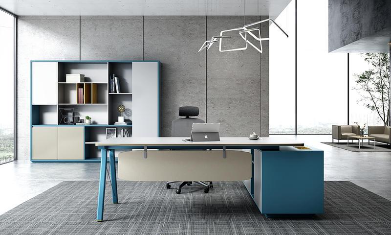 Fashionable Modern-Peter Blue Steel Foot Workstation