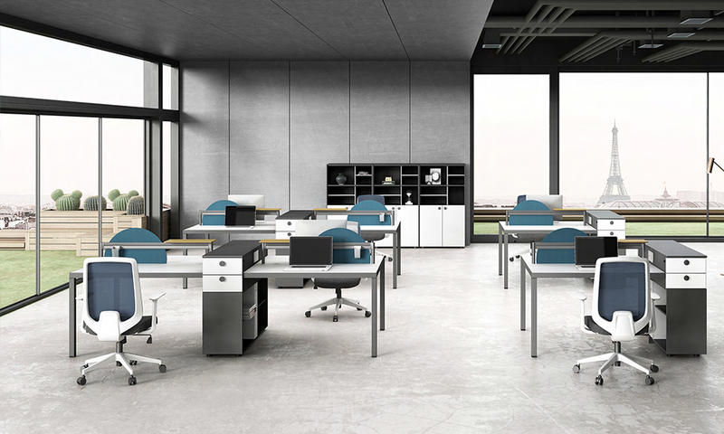 Workstation with Pedestals-Snow Series