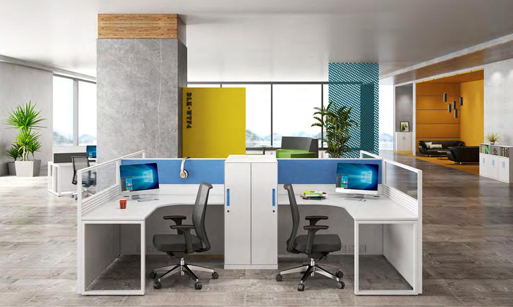 Gojo furniure wooden linear workstation company for reception area-2