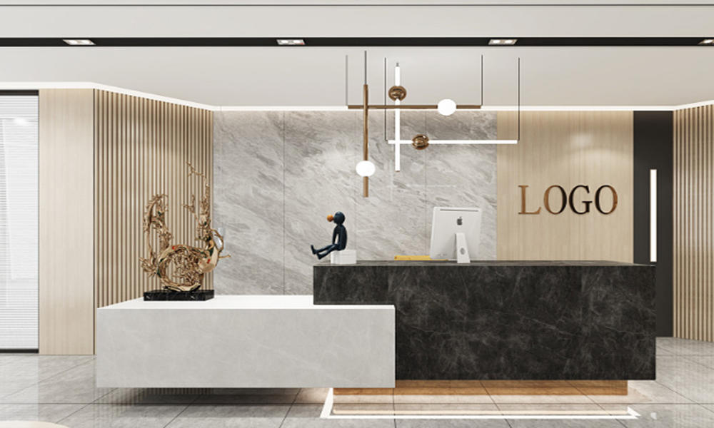 Marble Office Front Desk