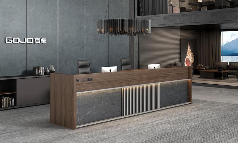High-end Light Luxury Office Front Desk