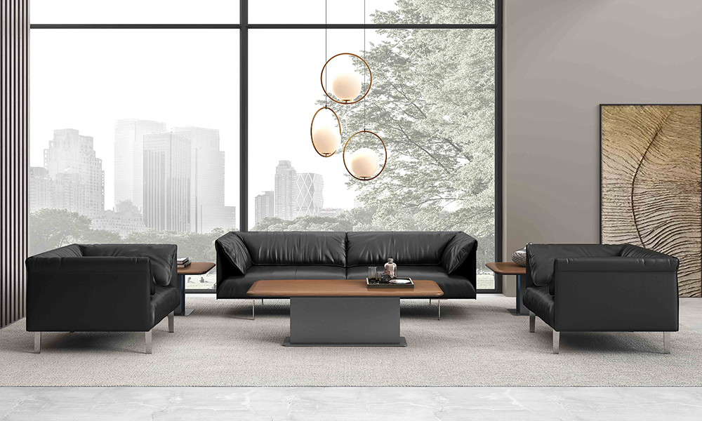 Top coffee table for leather sofa table factory for executive office-2