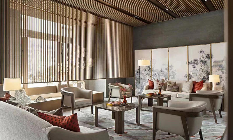 New Chinese Style Hotel Lounge Area Furniture