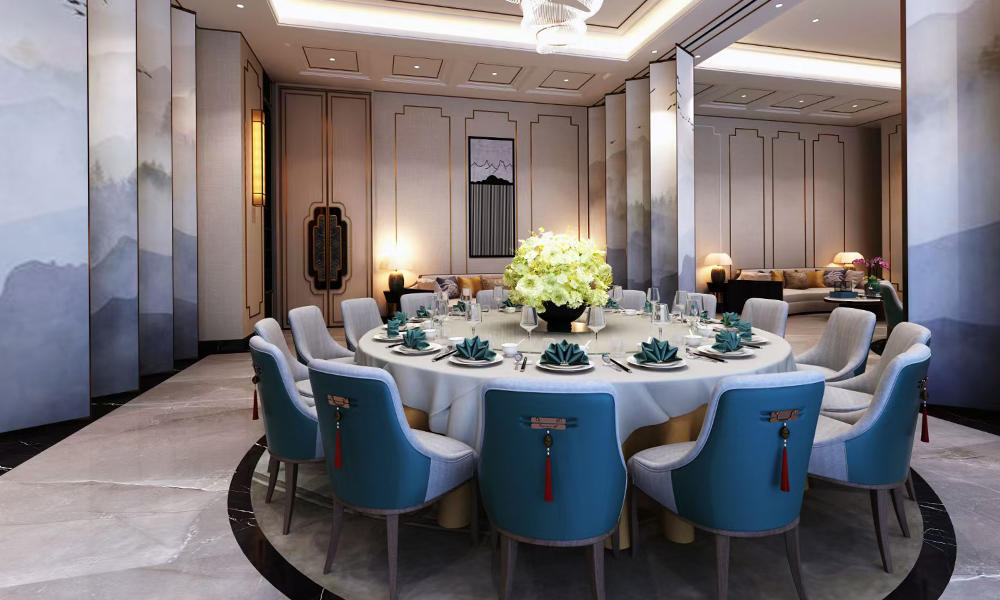 Neo-Chinese Hotel Dining Room Custom Furniture Guest Hall Furniture