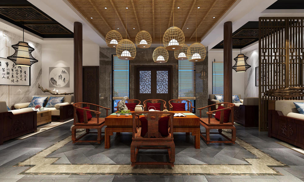 New Chinese Style Club Custom-made Furniture