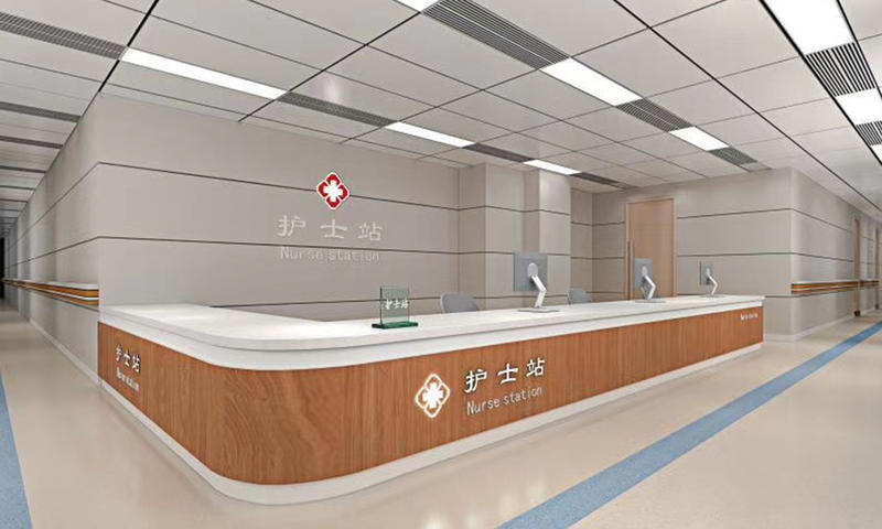 Wooden Nurse Station Furniture