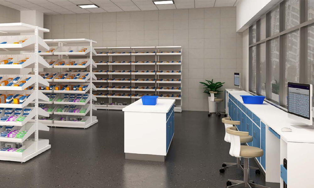 Pharmacy Furniture Medical Shelves
