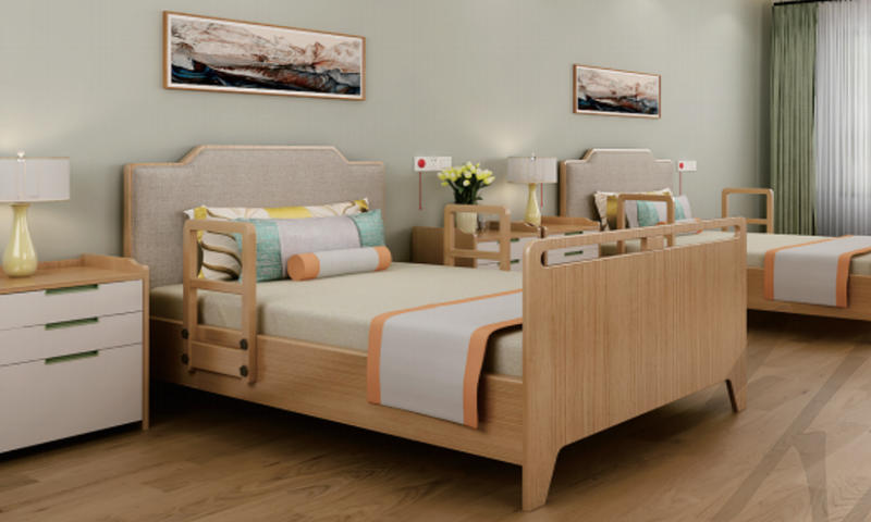Self Care Bed for the Aged Custom Double Room Hotel Furniture