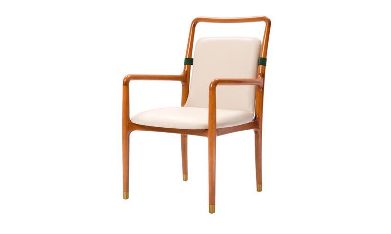 Round Wood Elderly-oriented Chair