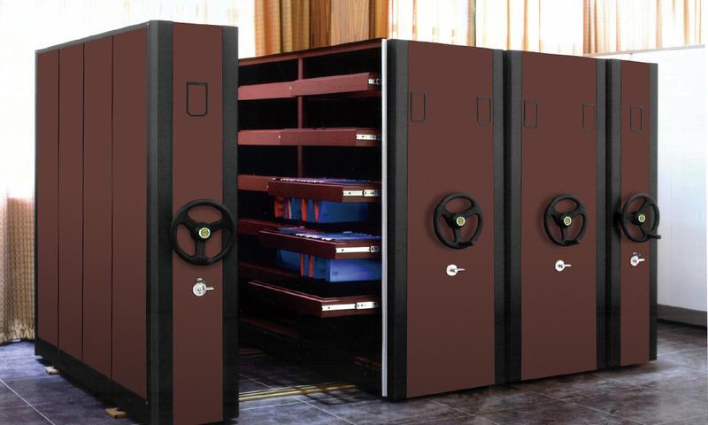 Dark Color Manual Serried Cabinet