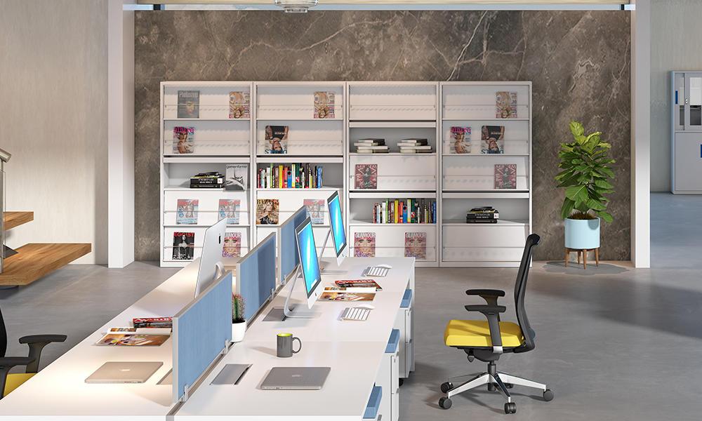 Officr Bookshelf and Periodicals Rack