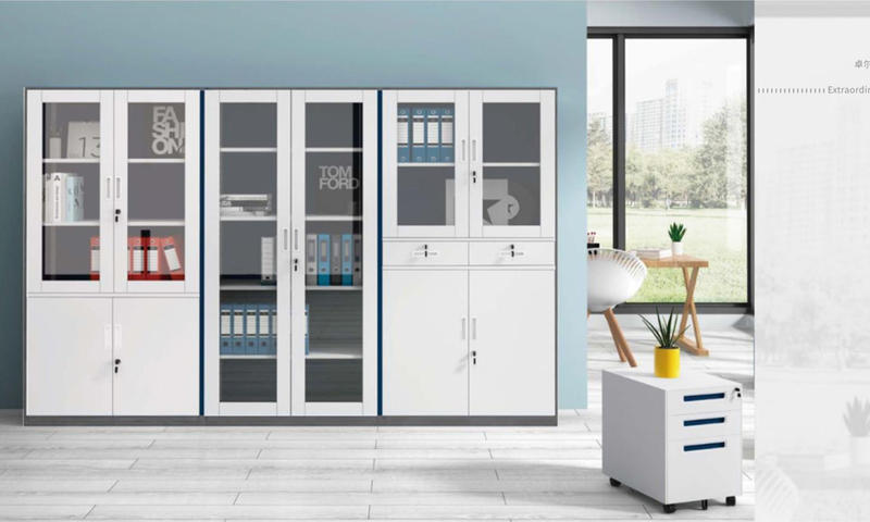 Glass Movable Cabinet