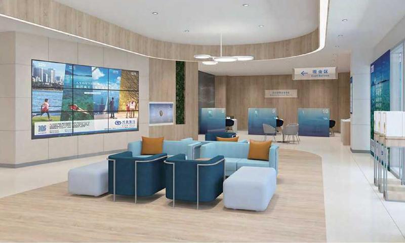 Public Area Sofa Bank Furniture