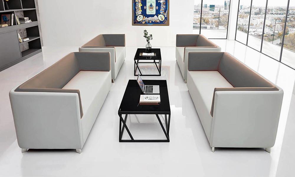 Light Colour Public Area Sofa Bank Furniture