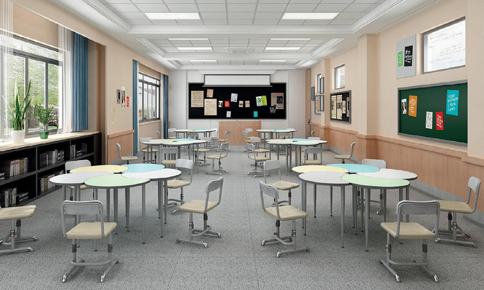 Classroom Student's Desk and Chair Teacher's Platform Furniture Wholesale Suppliers