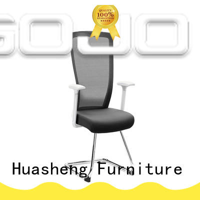 GOJO black executive chair with new white paint feet for executive office