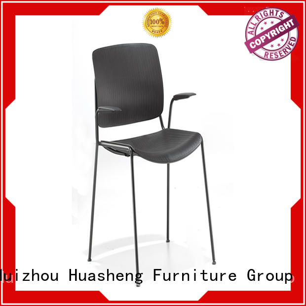 GOJO flannelette fabric visitor chair with handrails for bar