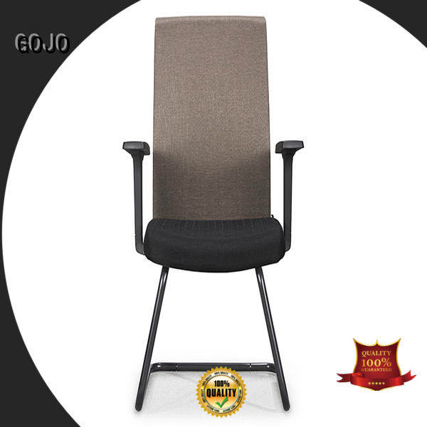 executive chair without wheels with aluminium alloy feet for boardroom GOJO