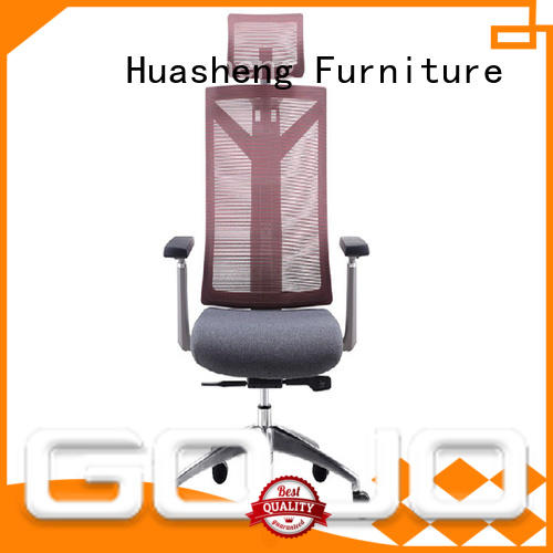 GOJO namy leather executive office chair high back with new white paint feet for ceo office
