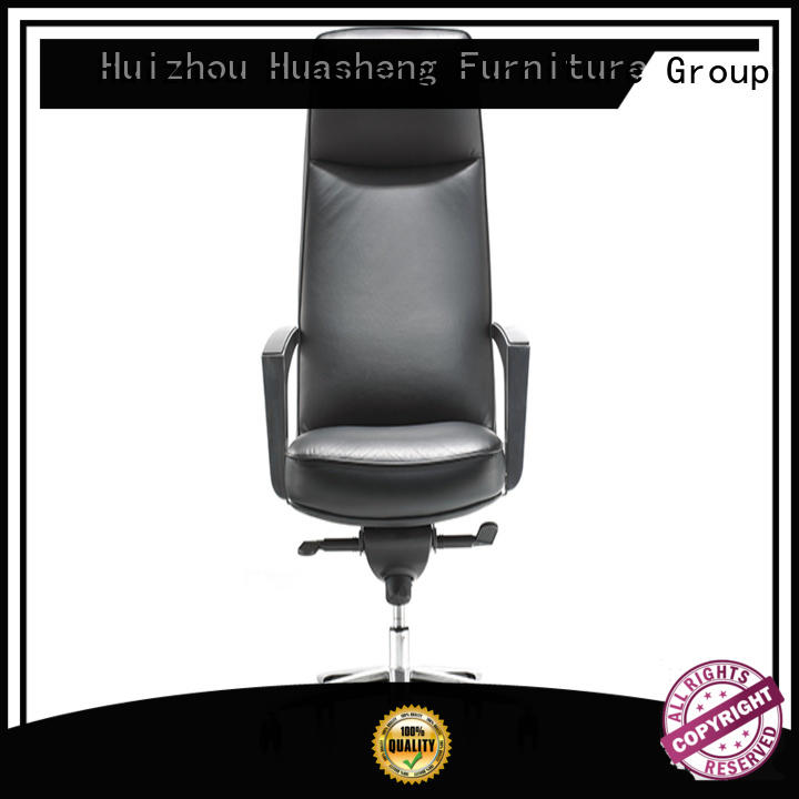 GOJO black high end office chairs with five-star movable foot for executive office