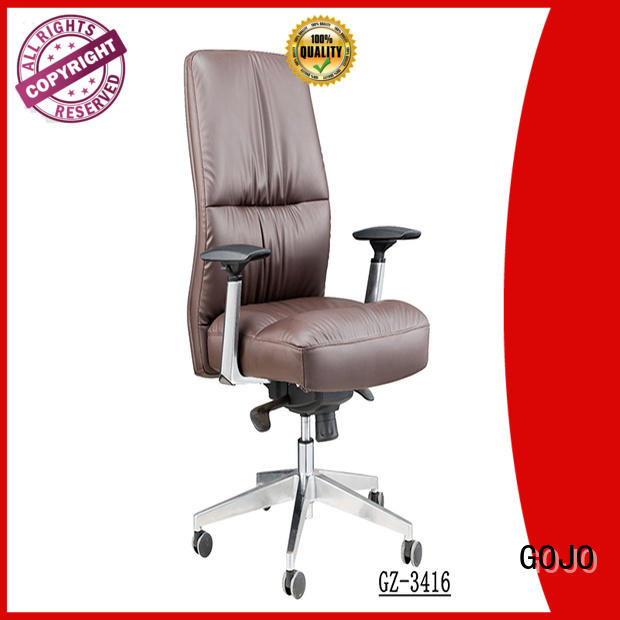 cowhide executive revolving chair mesh fabric for boardroom GOJO