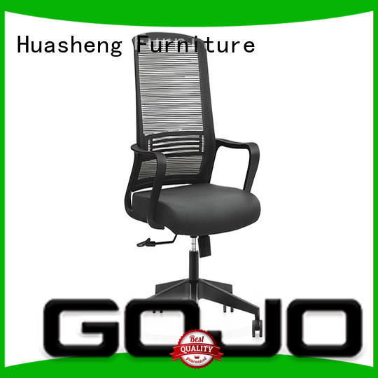 GOJO comfortable swivel office chairs with nylon handrails for executive office