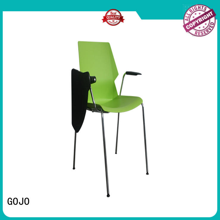 GOJO colorful modern office guest chairs wood for lounge area