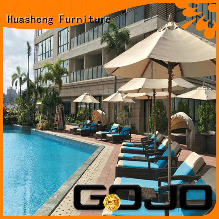 GOJO leisure outdoor furniture sofa set for holiday hotels