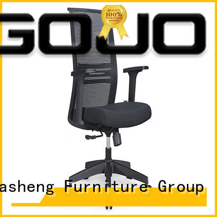 swivel mesh office chair with nylon tall feet for clerk space