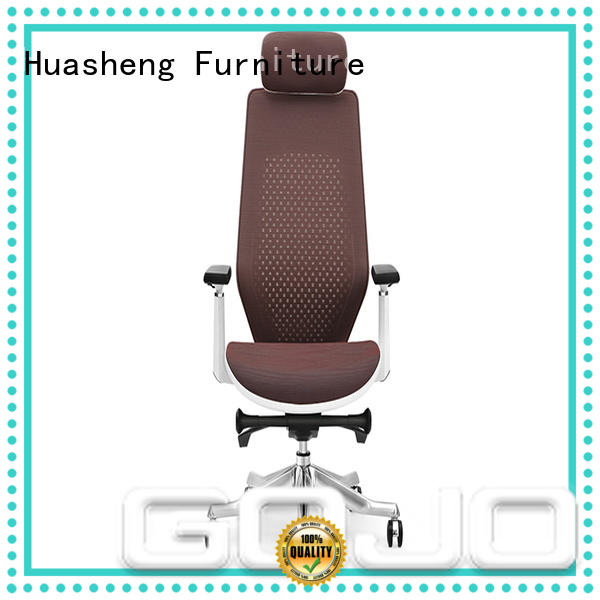 GOJO genuine leather executive office chair with lumbar support for ceo office