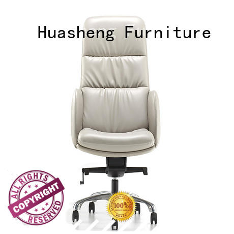 GOJO grey leather executive office chair with aluminium alloy feet for ceo office