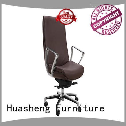 cowhide black executive office chair mesh fabric for boardroom GOJO