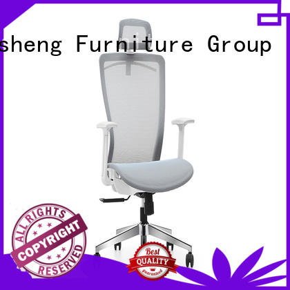 comfortable executive style chair with new white paint feet for executive office
