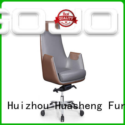 GOJO calvin executive leather office chair with new white paint feet for boardroom