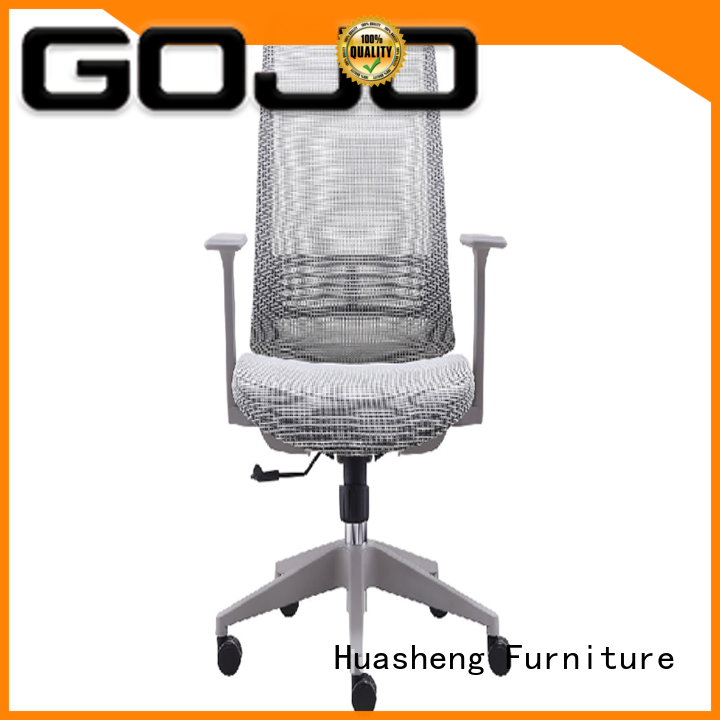 genuine mesh office chair with new white paint feet for ceo office