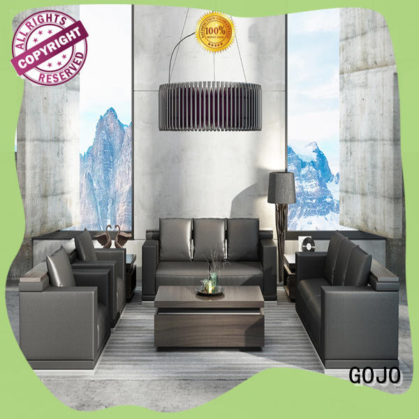 mdf board waiting room table and chairs cowhide for lounge area GOJO