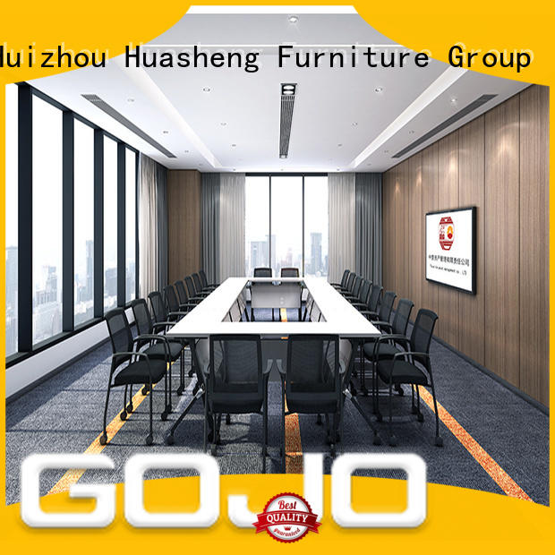 GOJO Best white conference room table Supply for boardroom