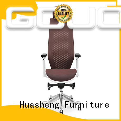 brown executive chair with new white paint feet for executive office GOJO