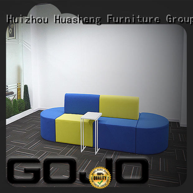 GOJO leather modern reception area chairs sofa for reception area