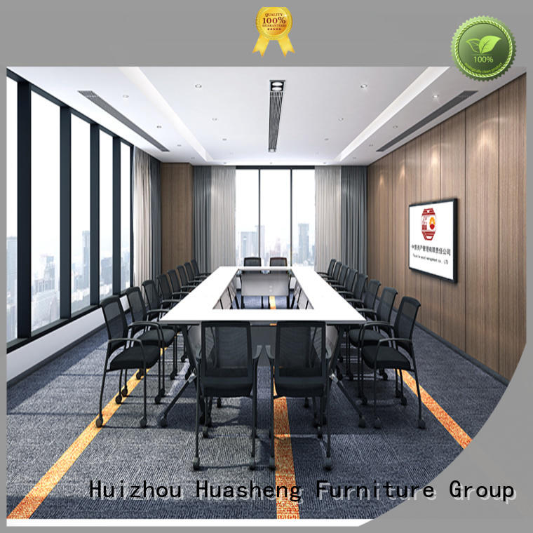 brown office meeting table mfc GOJO