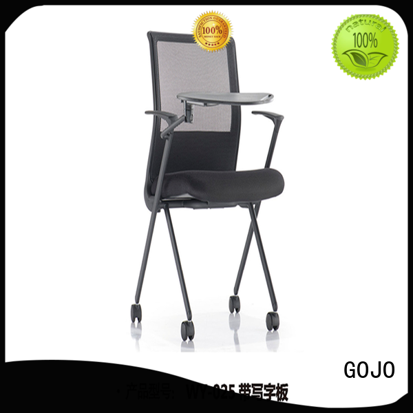 GOJO leather white office chair with casters for ceo office
