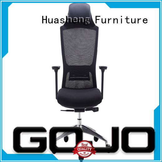 GOJO best executive office chair with aluminium alloy feet for ceo office
