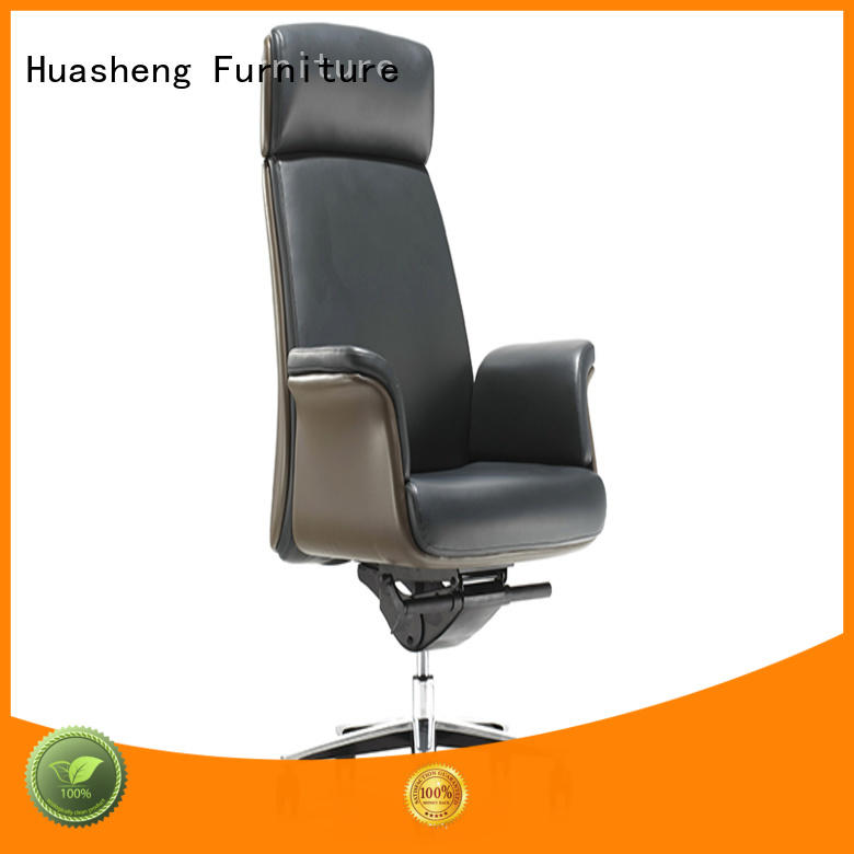 ergonomic leather office chair with arms manufacturer for boardroom