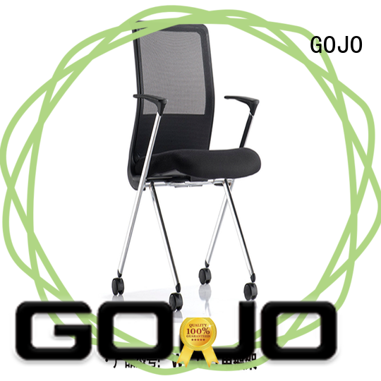 cowhide office desk chairs manufacturer for conference area GOJO