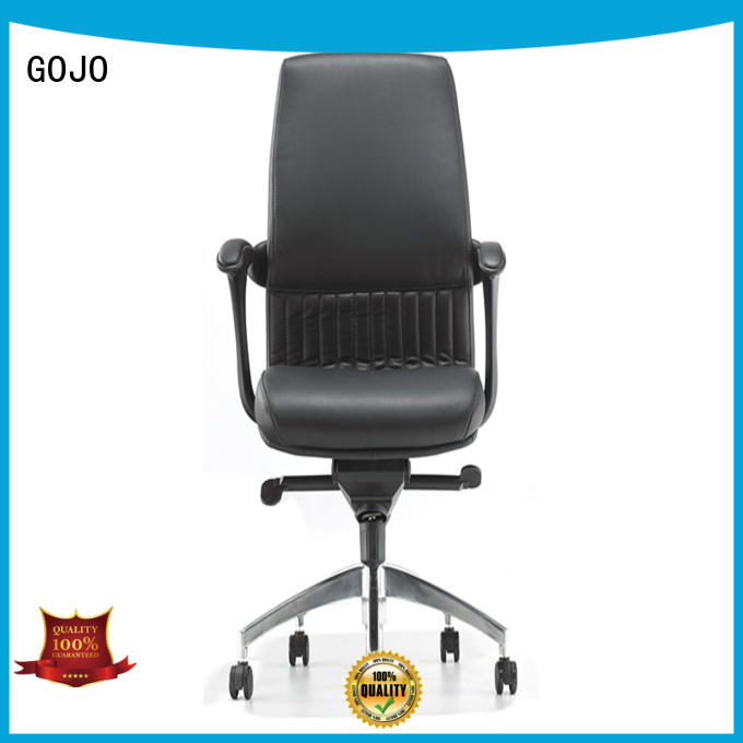 GOJO executive leather office chair with lumbar support for boardroom
