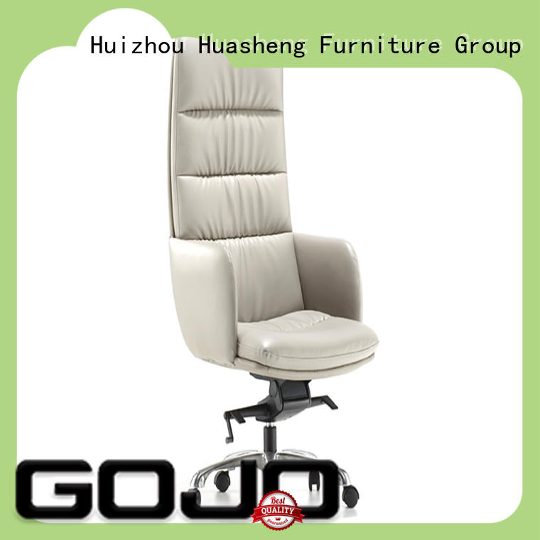 GOJO cowhide real leather office chair with five-star movable foot for executive office